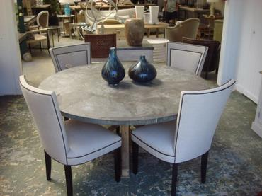 Lovely Inspiration Ideas Zinc Top Round Dining Table 32