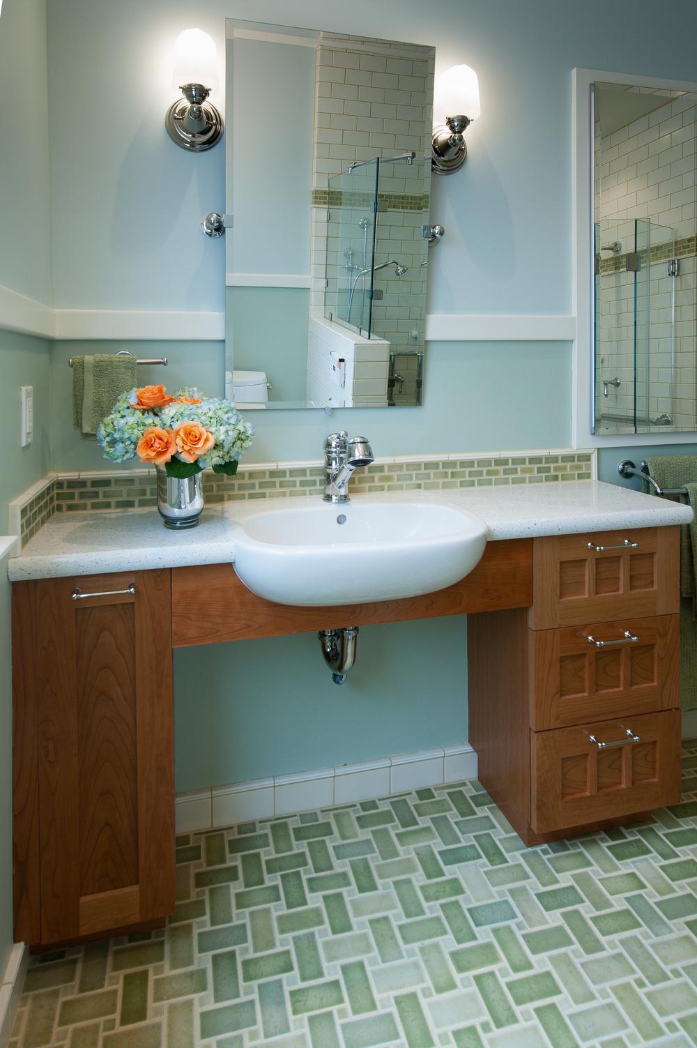 Stunning Design Wheelchair Accessible Bathroom Vanity 7