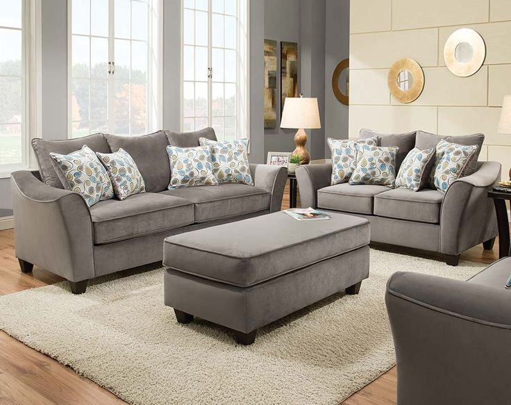 Clever Design Grey Sofa And Loveseat 13