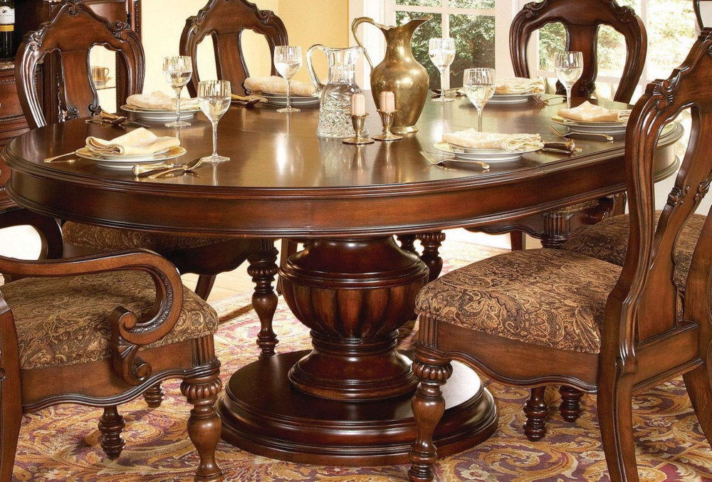Antique Round Dining Table And Chairs