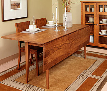Exclusive Ideas Rectangular Drop Leaf Dining Table 26