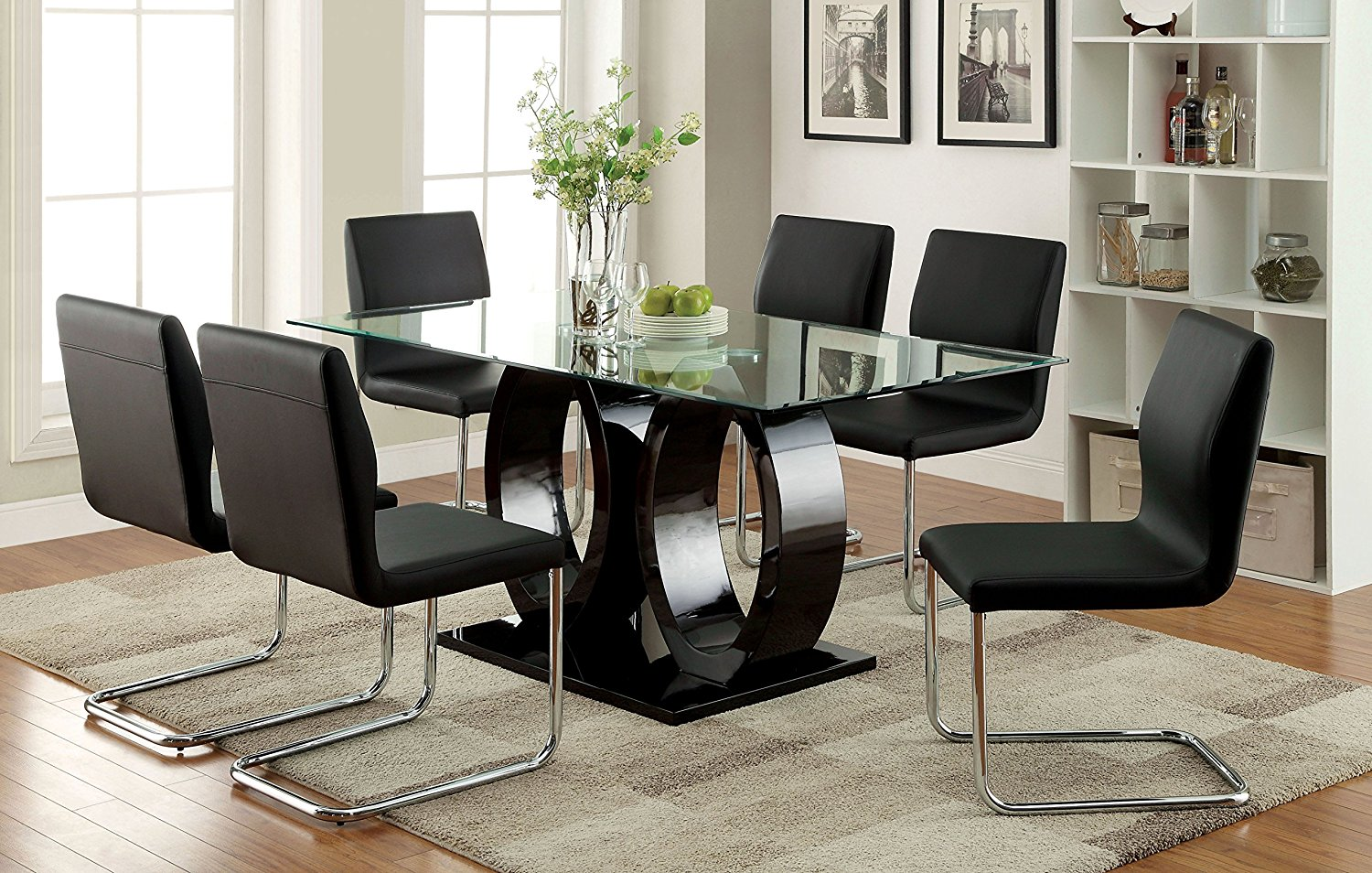 Fancy Design Ideas Glass Top Dining Table Set 29