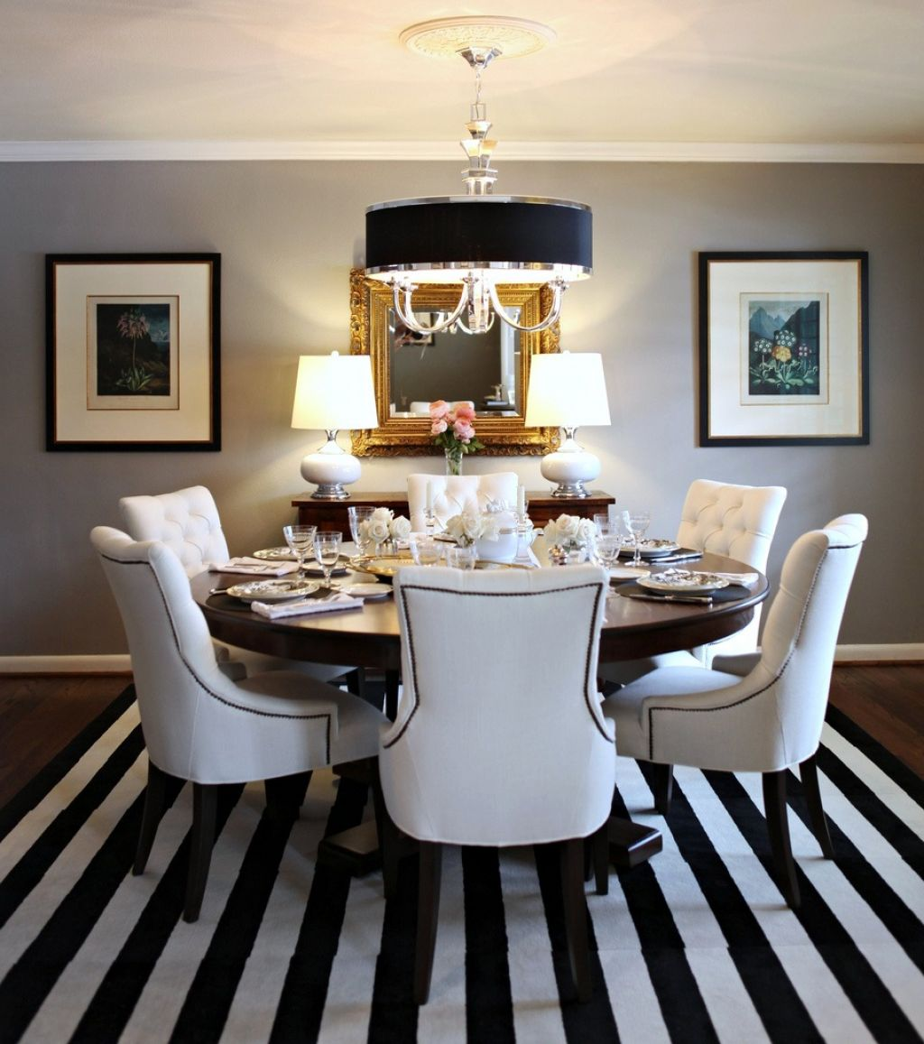 Nice Looking Black And White Dining Room Chairs 25