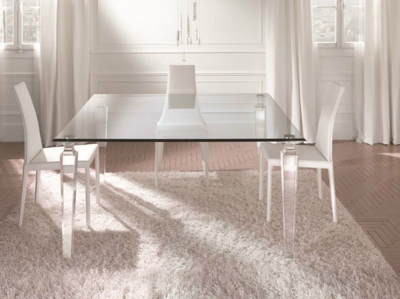 Redoubtable Square Glass Dining Table 23