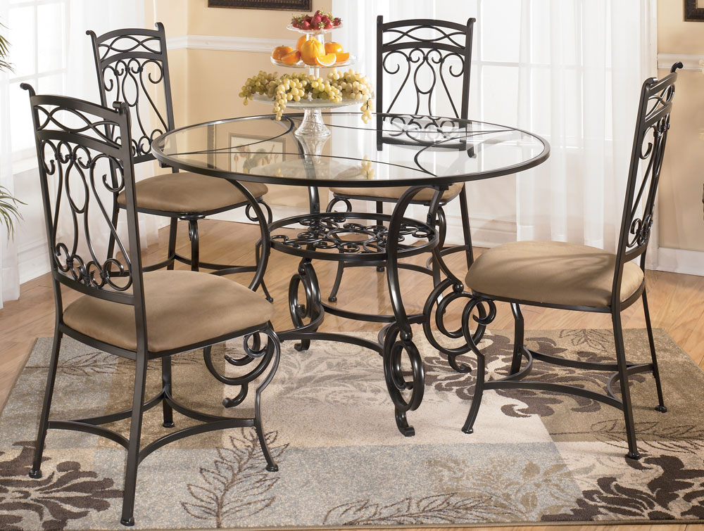 Smartness Inspiration Round Glass Dining Table And Chairs 16