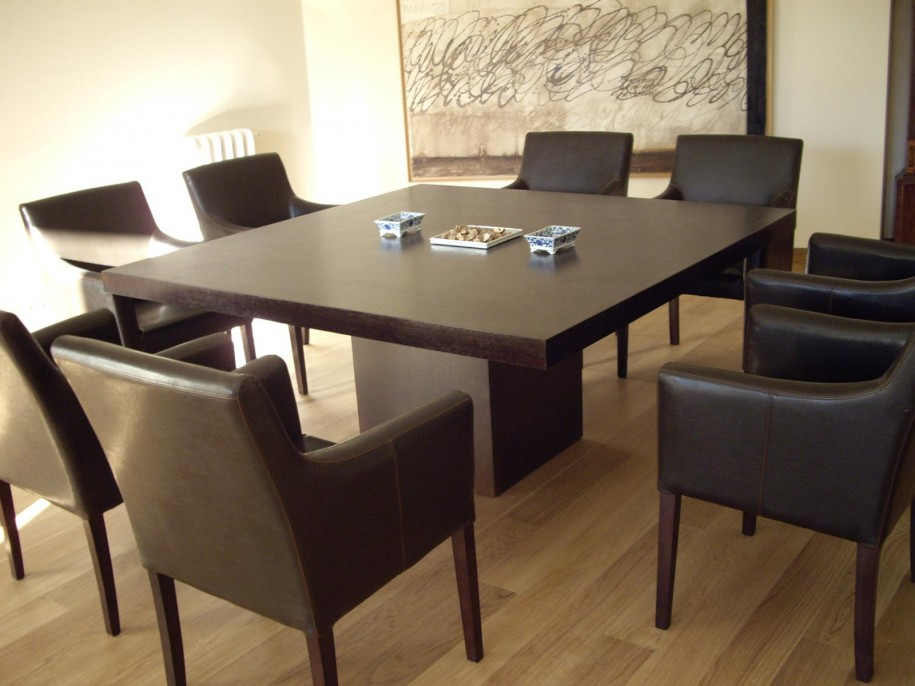 Wonderful Strikingly Beautiful Square 8 Person Dining Table 26
